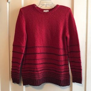 J. Jill Red Pullover Sweater